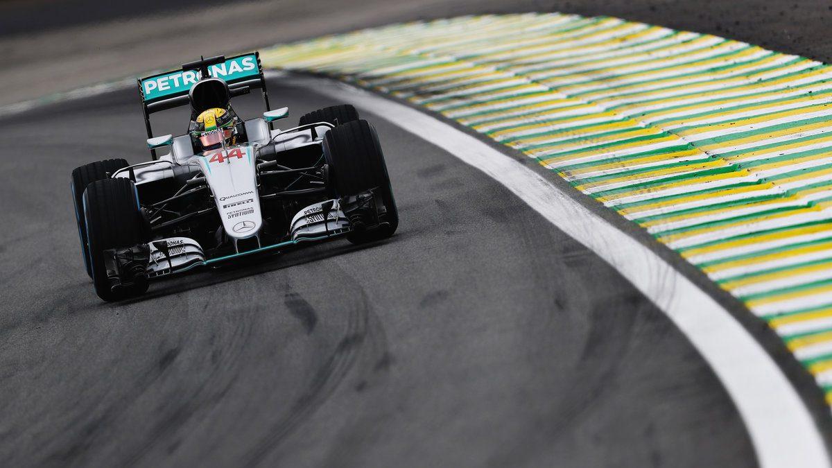 Lewis Hamilton se hizo con la pole en Brasil por delante de Rosberg y Raikkonen. Alonso, décimo, en Q3 (Getty)