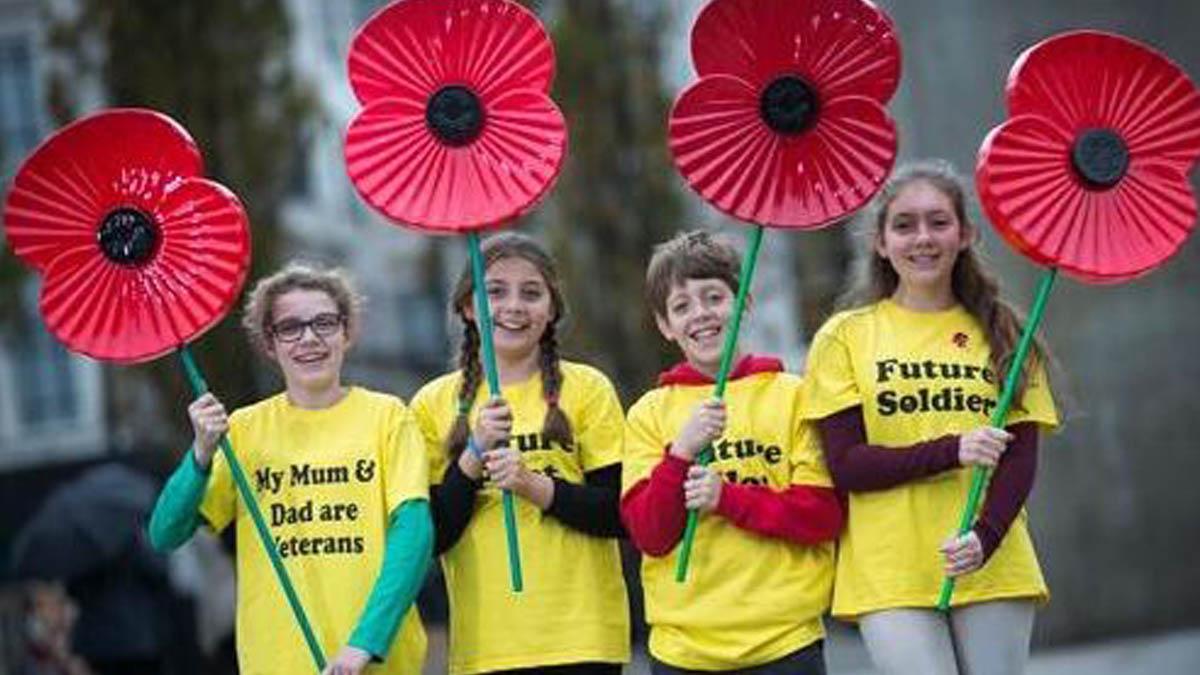 Celebraciones del Día del Recuerdo o 'Poppy Day' en Reino Unido.