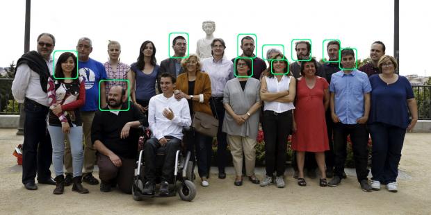 Concejales de Ahora Madrid que han expresado su apoyo a los okupas. (Foto: AFP)