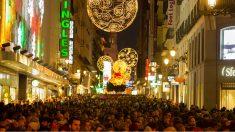 Calle de Preciados Madrid en Navidad (Foto: Getty).