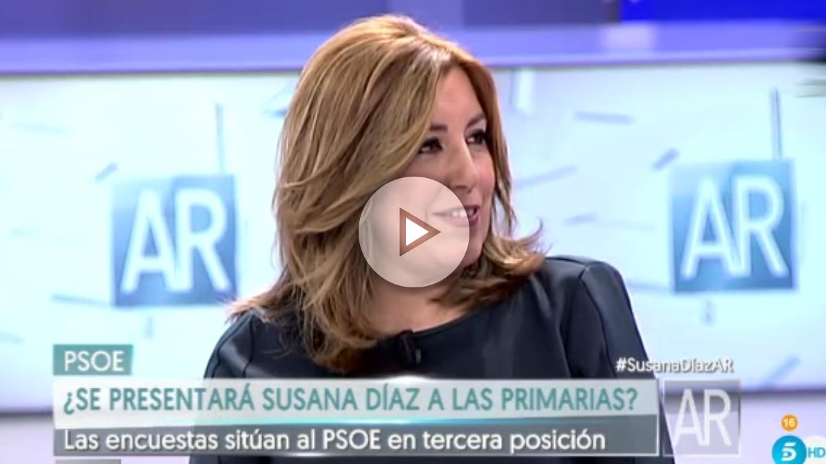 Susana Díaz, durante su entrevista en el Programa de Ana Rosa.