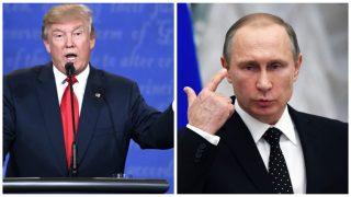 Los presidentes de EEUU y Rusia, Donald Trump y Vladimir Putin.