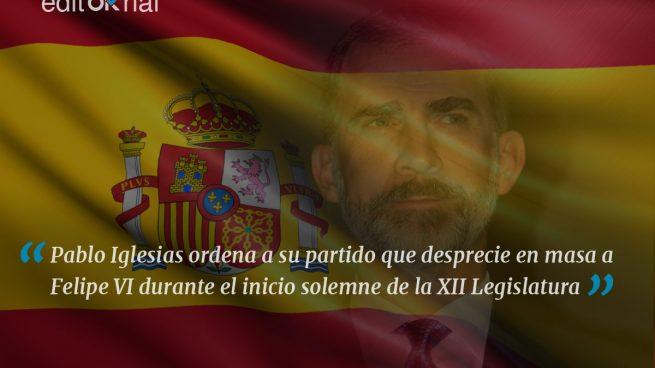 Iglesias sube la apuesta: desprecio al Rey