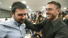 Ramón Espinar y Juan Carlos Monedero. (Foto: EFE) | Podemos Madrid