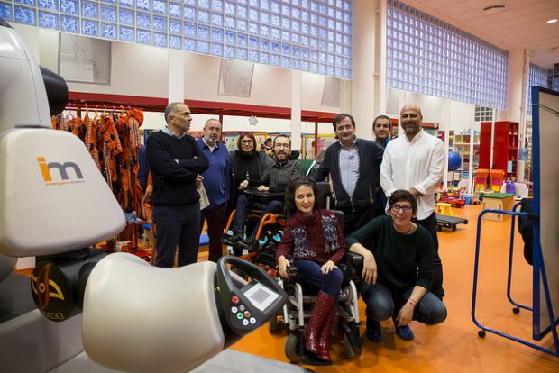 Echenique, De Felipe y Llamas, tres cargos de Podemos con diversidad funcional. (Foto: Podemos CM)