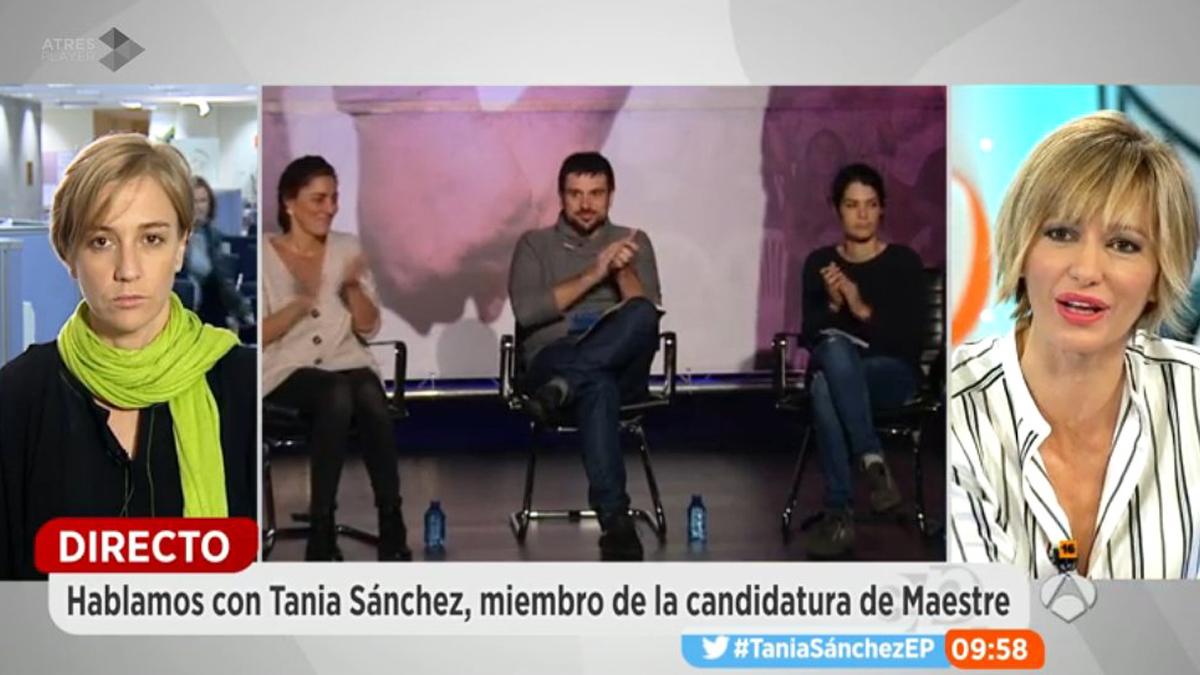 La diputada de Podemos en el Congreso, Tania Sánchez, en 'Espejo Público' (Foto: Twitter)