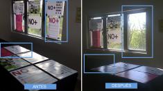 Comparativa de antes y después de la censura en la Casa de Campo.
