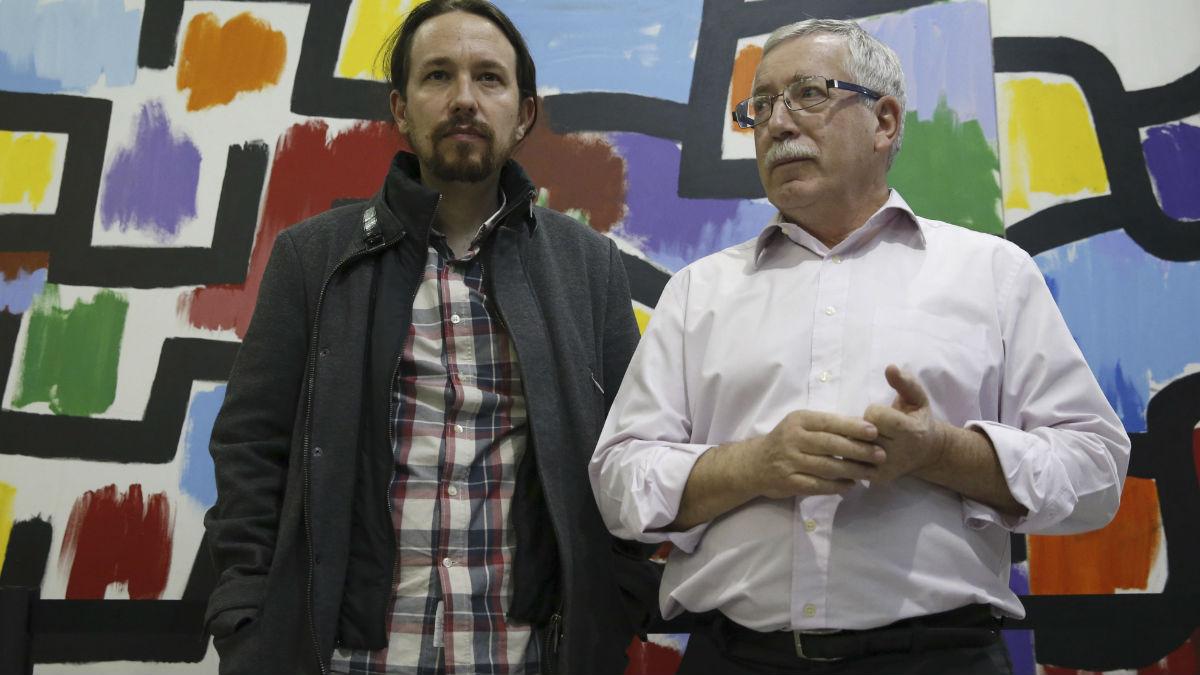 Pablo Iglesias y Fernández Toxo. (Foto: EFE)