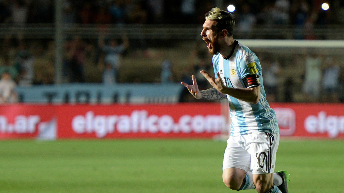 Leo Messi anotó el primer gol de Argentina. (AFA)