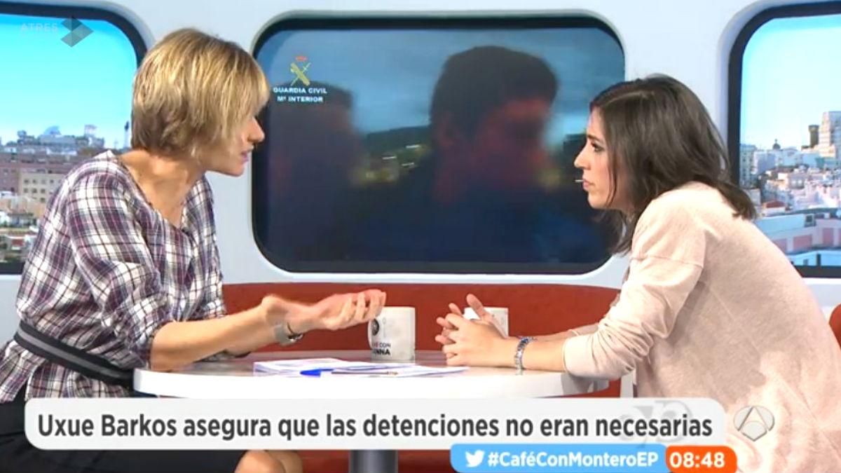 La diputada de Podemos, Irene Montero, en 'Espejo Público' (Foto: Twitter)