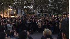 Concentración en Getafe contra las palizas en los colegios del municipio. (Foto: TW)