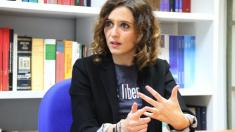 Isabel Díaz Ayuso en la sede del PP en Génova. (Foto: E. Falcón)