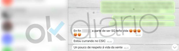 Mensajes de chat de Carmen Santos.