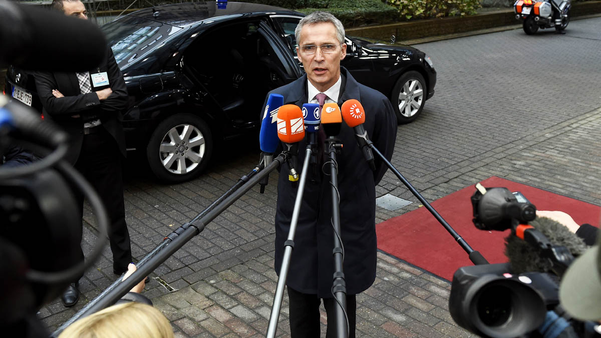 Jens Stoltenberg, secretario general de la OTAN (Foto: AFP)
