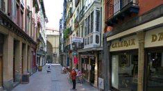 Vista de la calle Belosticalle, en el Casco Viejo de Bilbao.
