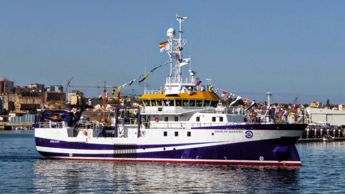 El buque oceanográfico español Ángeles Alvariño (Foto: Javier Alonso).