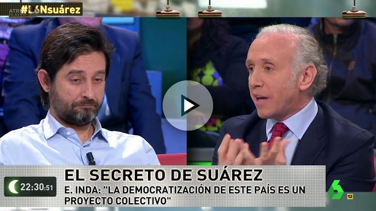 Rafa Mayoral y Eduardo Inda, en La Sexta Noche.