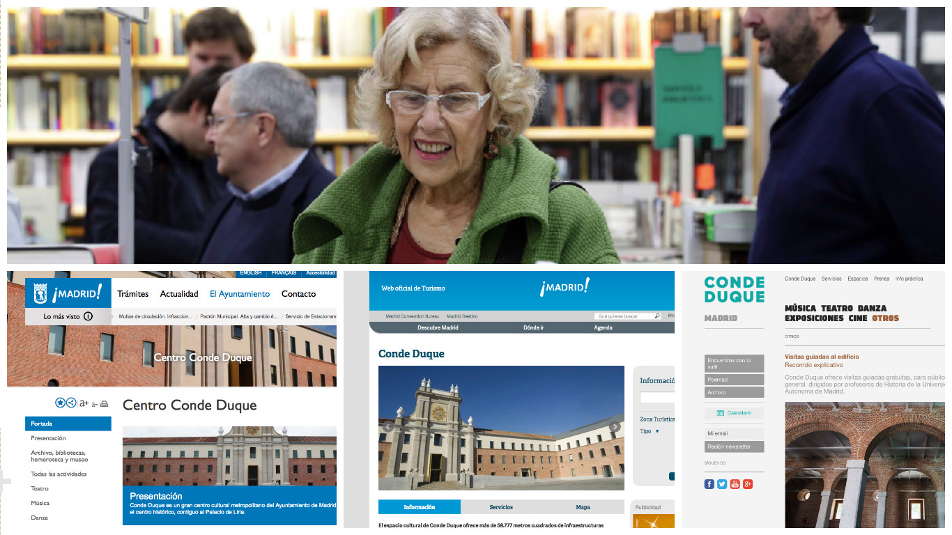 La web del centro cultural Conde Duque ya tiene tres páginas webs. (Foto: Madrid)