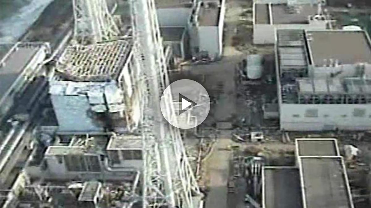 La central nuclear de Fukushima afectada por el tsunami de 2011.