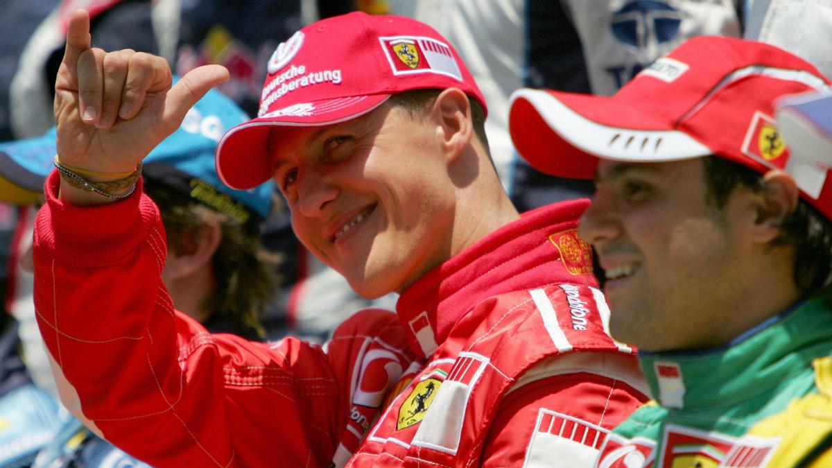 Schumacher junto a Massa en su época de Ferrari. (Getty)