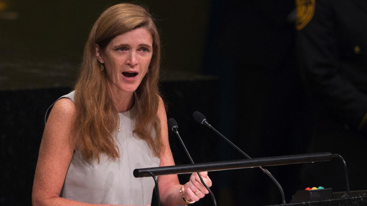 La embajadora estadounidense ante la ONU, Samantha Power. (Foto: AFP)