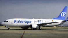 Boeing 737-800 en el 30º aniversario de Air Europa.