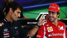 Fernando Alonso le ha confesado a Mark Webber que le hubiese gustado coincidir con él en el mundial de resistencia. (Getty)