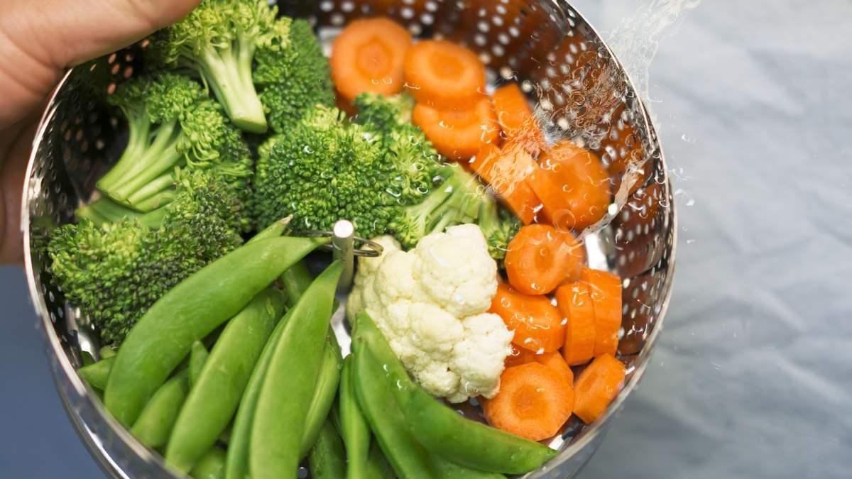 Las verduras al vapor