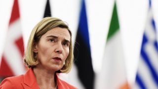 Federica Mogherini, responsable de Exteriores de la Unión Europea (Foto: AFP)