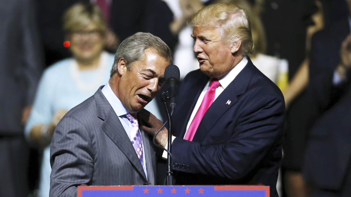 Donald Trump y Nigel Farage. (Foto: AFP)