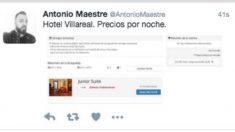 Tuit borrado por Antonio Maestre.