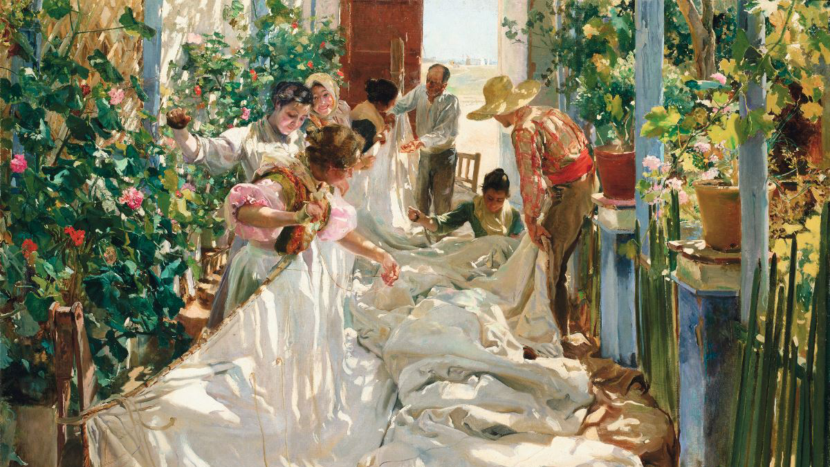'Cosiendo la vela', 1896.