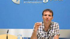 Consejero de Urbanismo de Zaragoza en Común, Pablo Muñoz. (Foto: Youtube)