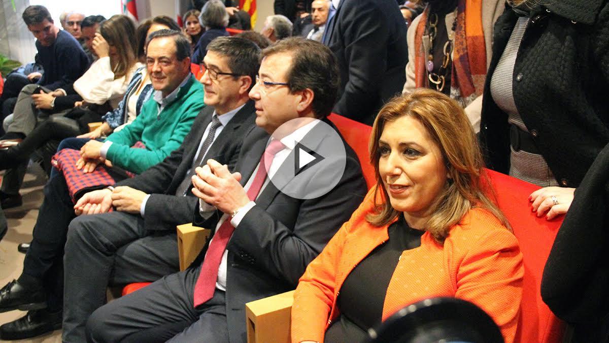 Susana Díaz junto a Guillermo Fernández-Vara. (Foto: Enrique Falcón)