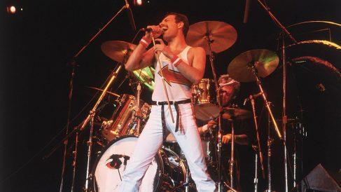 Freddy Mercury en un concierto en junio de 1982. Foto: GettyImages