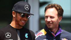 Christian Horner podría pasar a ser el mejor amigo de Lewis Hamilton el domingo por la tarde. (Getty)
