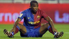 Eto'o en su etapa en el Barcelona. (AFP)