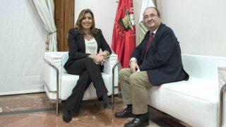 Susana Díaz y Miquel Iceta. (Foto: EFE)