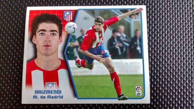 Cromo de Javier Arizmendi con el Atlético de Madrid