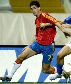 Javier Arizmendi con la selección española