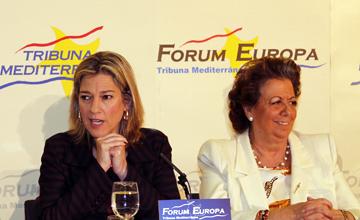 Desayuno informativo de Sánchez de León presentanda por Rita Barberá. (Foto: NEF)
