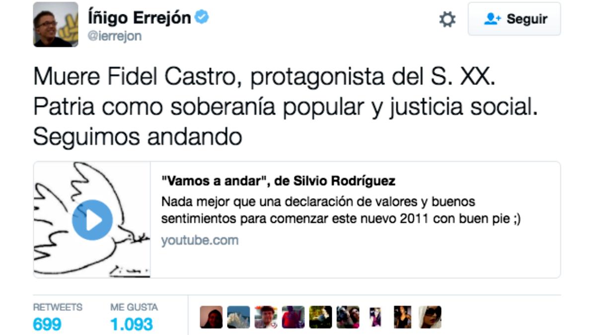 Mensaje publicado por Bernat Castro en Twitter.