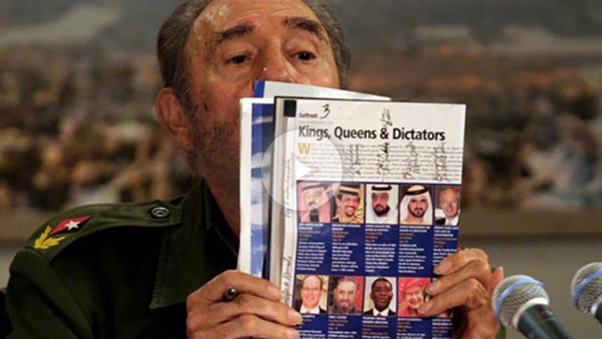 Fidel Castro con la revista Forbes.