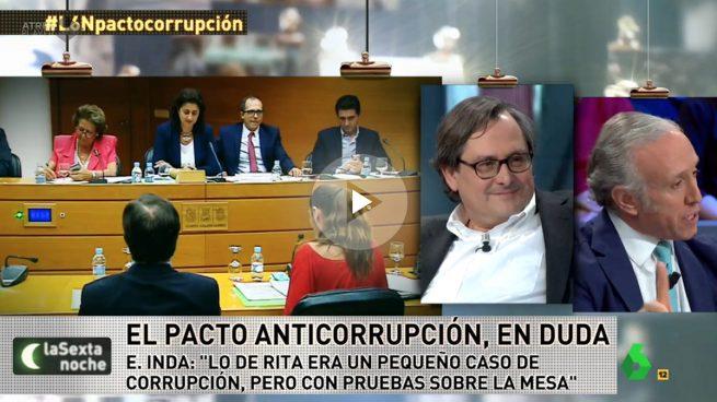 Eduardo Inda: «Aplaudo la firmeza de Ciudadanos manteniendo el pacto anticorrupción»