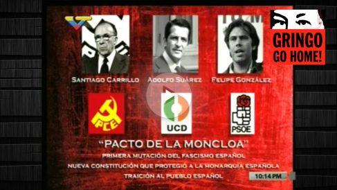 Emisión del programa «La hojilla» en la TV venezolana sobre la Transición española.