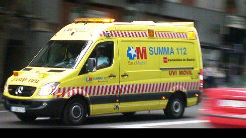 Imagen de una ambulancia.