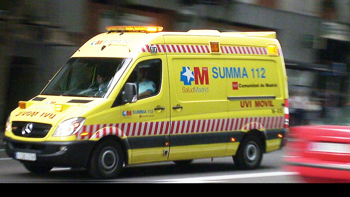 Una ambulancia del servicio sanitario de la Comunidad de Madrid.