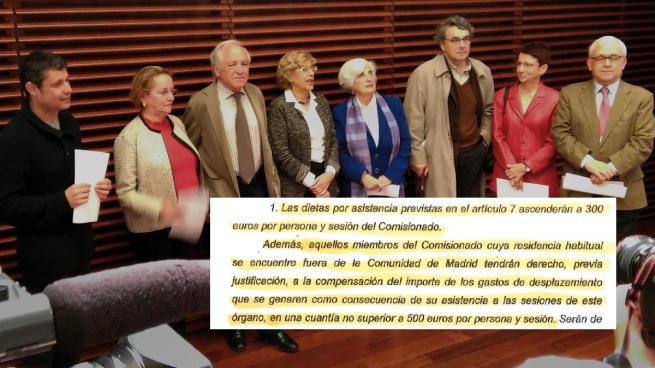 Los expertos no madrileños de memoria histórica de Carmena cobrarán hasta 800€ de dieta por reunión