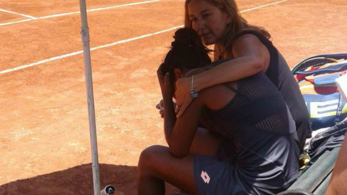 La tenista Daniela Seguel. (@maxvidela90)