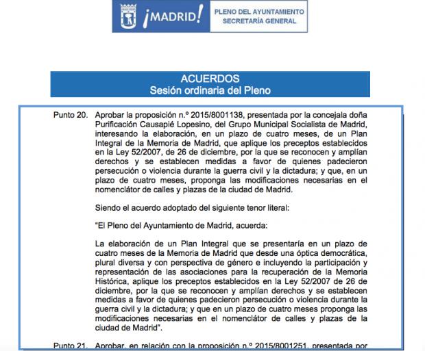 Documento de acuerdos del pleno de diciembre de 2015. (Clic para ampliar)